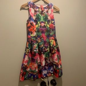 Eight sixty size small tropical floral dress mini